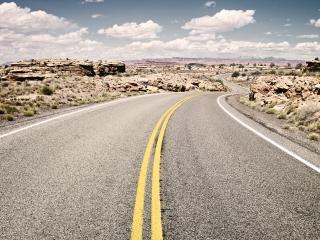 обои для рабочего стола: Извилистая дорога в Американских прериях