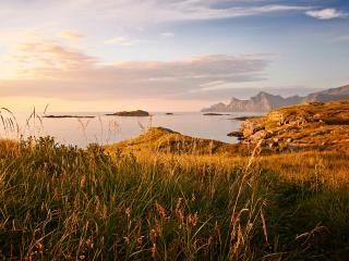 обои Небо,   горы,   озеро,   растительность фото