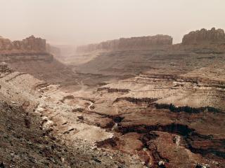 обои для рабочего стола: Глубокая трещина каньона