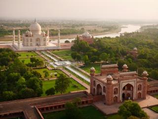 обои для рабочего стола: Знаменитый дворец Тадж Махал