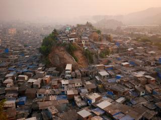 обои Густонаселенные районы Индии фото