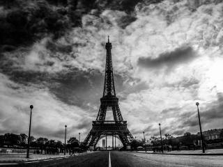 обои Черно-белое фото Парижа фото