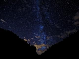 обои для рабочего стола: Ночное звёздное небо