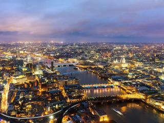 обои для рабочего стола: Рассвет над Лондоном