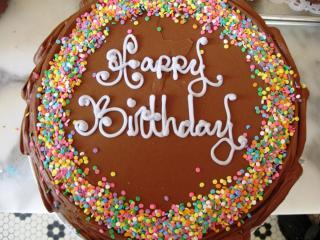 обои Шоколадный тортик к дню рождения фото