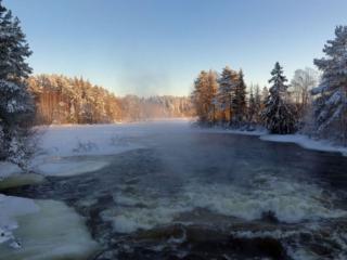 обои Зимняя речка фото