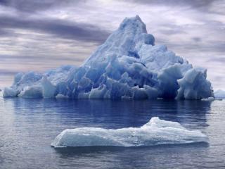 обои для рабочего стола: Тающий айсберг