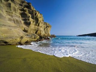 обои для рабочего стола: Гавайи. Зеленый пляж Папаколеа