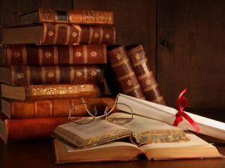 обои Книги и очки фото