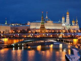 обои для рабочего стола: Москва вечерняя