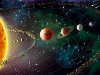 обои для рабочего стола: Парад планет