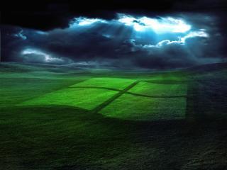 обои Окно на траве фото