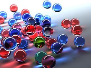 обои Цветные шарики в полете фото