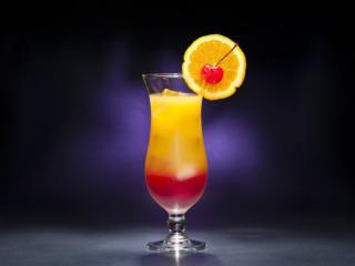 обои для рабочего стола: Апельсино-вишнёвый коктейль