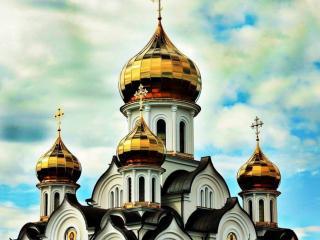 обои Золотые купола России фото
