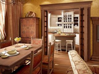 обои Интерьер кухни и столовой фото