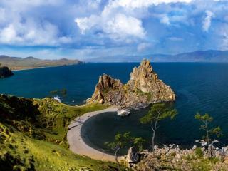 обои Байкальский пляж фото