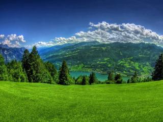 обои Зелёные горы фото