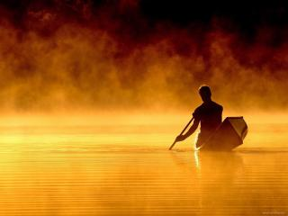 обои Золотое озеро фото
