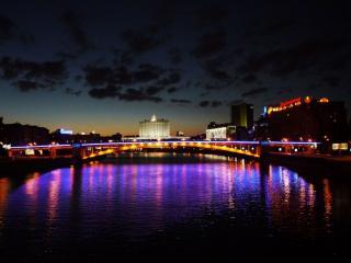 обои для рабочего стола: Московская ночь
