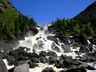обои Водопад Учар фото