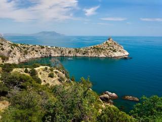 обои Крым - Вид с Голицинской тропы на Царский пляж фото