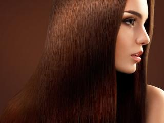 обои для рабочего стола: Девушка с каштановыми волосами