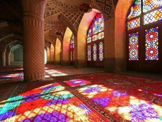 обои Мечеть Насир-ол-Молк в городе Шираз,   Иран фото