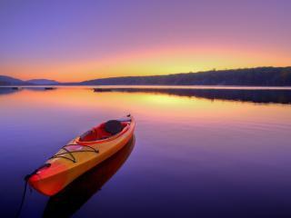 обои для рабочего стола: Одиночная лодка