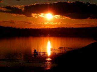 обои Вечерняя рыбалка фото