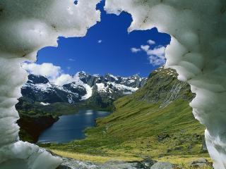 обои Lake Adelaide Basin, New Zealand фото