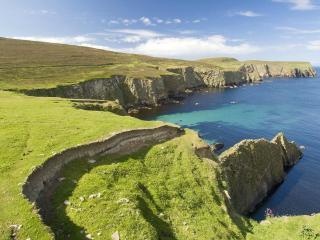 обои Northern Cliffs of Fair Isle, United Kingdom фото