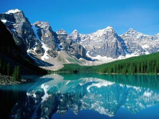 обои Moraine Lake and Valley of Ten Peaks фото