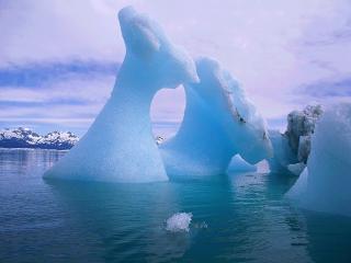обои Два интересных создания изо льда фото