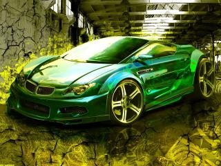 обои Зеленая машина фото