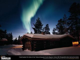 обои Северное сияние в Лапландии фото
