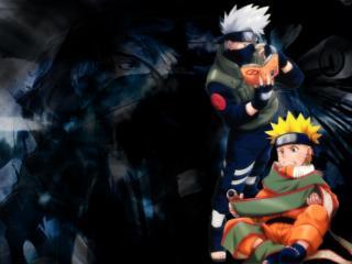 обои Naruto - Наруто и Какаши фото