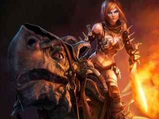 обои Golden Axe Beast Rider фото