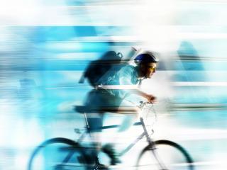 обои На велосипеде фото