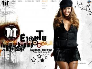 обои Beyonce Knowles в черном фото