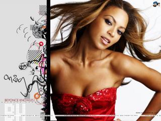 обои Beyonce Knowles в красном фото