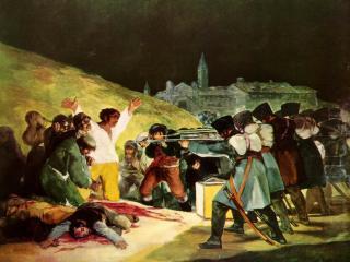 обои Francisco de Goya - Fusilamientos del 3 de mayo de 1808 - 1814 фото