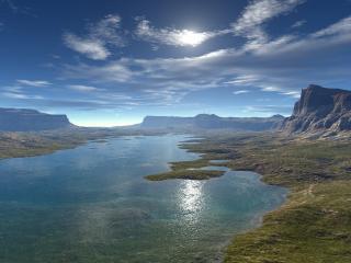 обои Неглубокое озеро фото