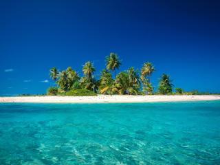 обои для рабочего стола: Остров вдалеке
