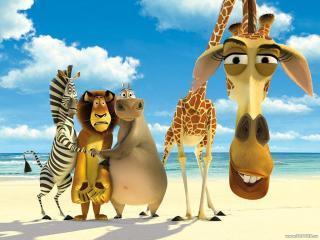 обои Мадагаскар - герои мульта фото
