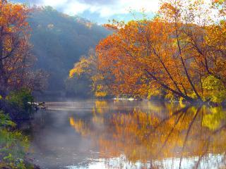обои Cuyahoga Reflections, Cuyahoga River, Ohio фото