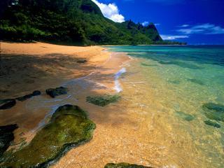 обои Tunnels Beach, Kauai, Hawai фото