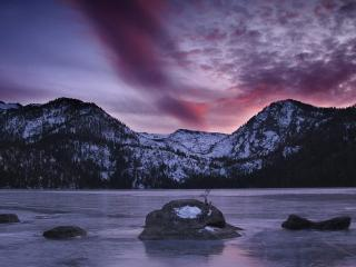 обои Cascade Lake, Californian Sierra Nevada, California фото
