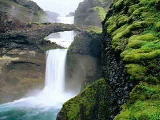 обои Scenic Waterfall, Iceland фото