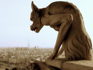 обои Дьявольский пёс (статуя) фото